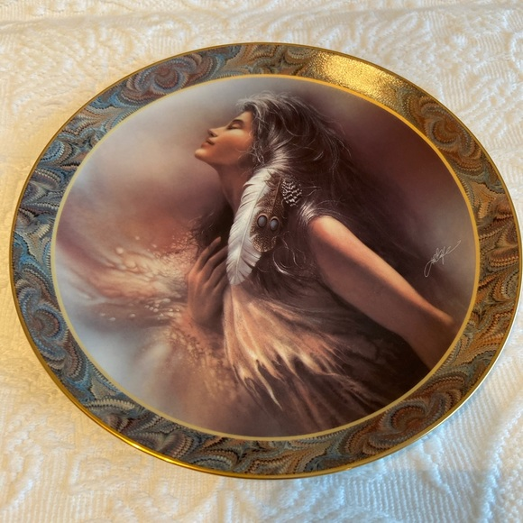 The Promise Native Beauty porcelain plate